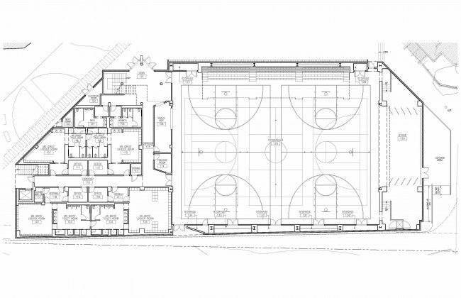 Gym floor plans floor plans for Basketball gym floor plan